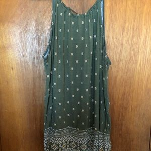 Old Navy Aztec Inspired Olive Tank Top